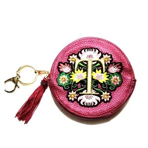 Handbags - Coin purse key chain wallet wristlet leather  New